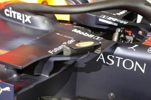 Detalle del espejo Red Bull Racing RB15