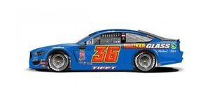 Throwback-Design: Matt Tifft, Front Row Motorsports, Ford Mustang