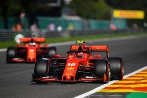Charles Leclerc, Ferrari SF90, and Sebastian Vettel, Ferrari SF90