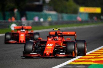 Charles Leclerc, Ferrari SF90, et Sebastian Vettel, Ferrari SF90