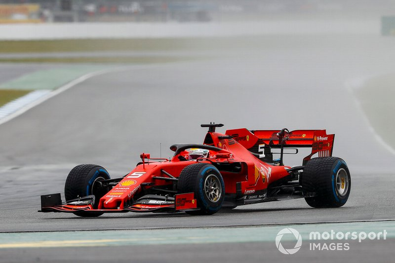 Vettel stayed out of trouble to finish second