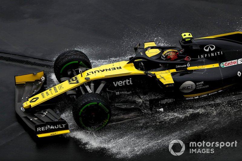 Nico Hulkenberg, Renault F1 Team R.S. 19 si ritira dalla gara