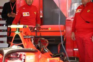 Charles Leclerc, Ferrari SF90 rear wing detail