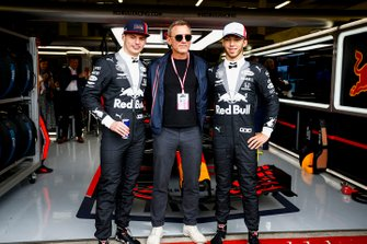 Max Verstappen, Red Bull Racing, James Bond-acteur Daniel Craig, Pierre Gasly, Red Bull Racing, Andy Palmer, CEO Aston Martin