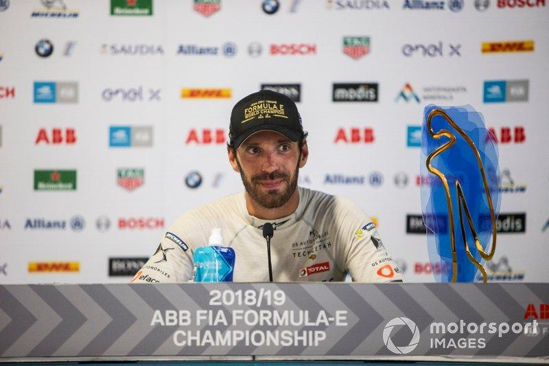 Il vincitore del Campionato Jean-Eric Vergne, DS TECHEETAH alla conferenza stampa