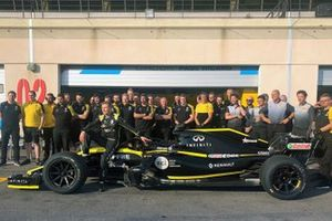 Sergey Sirotkin, Renault F1 Team, avec des pneus 18 pouces
