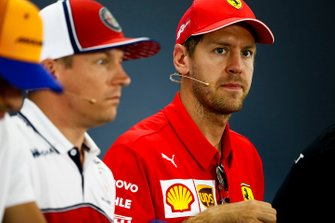 Sebastian Vettel, Ferrari and Kimi Raikkonen, Alfa Romeo Racing in the Press Conference