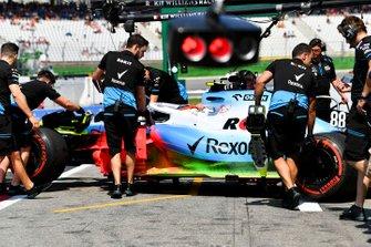 Robert Kubica, Williams FW42, covered with flow-viz paint