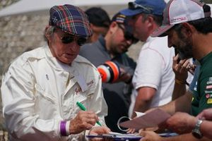 Jackie Stewart signs autographs