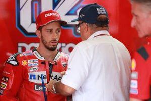 Carmelo Ezpeleta, Dorna CEO , Andrea Dovizioso, Ducati Team