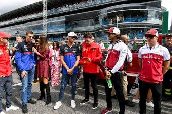 Daniil Kvyat, Toro Rosso, Pierre Gasly, Toro Rosso, Charles Leclerc, Ferrari, Antonio Giovinazzi, Alfa Romeo Racing, and Kimi Raikkonen, Alfa Romeo Racing
