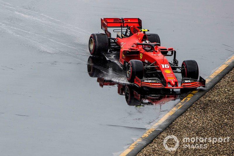 Charles Leclerc, Ferrari SF90, kecelakaan