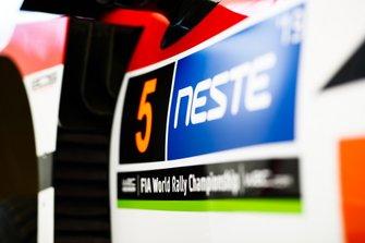 Detalle del coche de Kris Meeke, Sebastian Marshall, Toyota Gazoo Racing WRT Toyota Yaris WRC