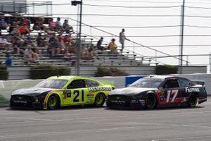 Paul Menard, Wood Brothers Racing, Ford Mustang Menards / Duracell Optimum, Ricky Stenhouse Jr., Roush Fenway Racing, Ford Mustang Roush Performance