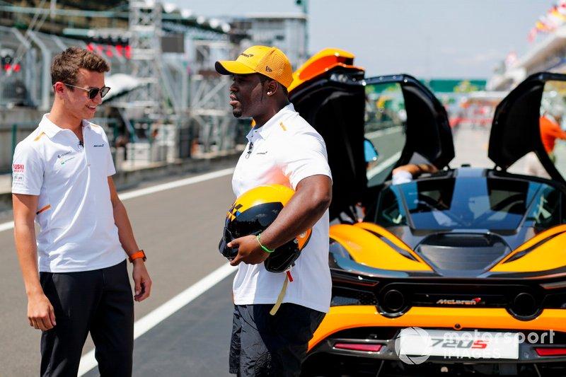 Lando Norris, McLaren et ASAP Ferg
