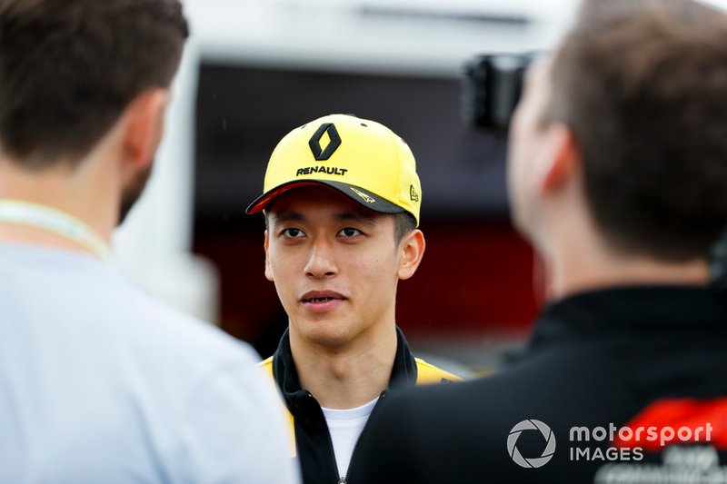 Guanyu Zhou, UNI Virtuosi Racing speaks to the media