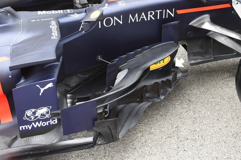 Red Bull Racing RB15 bargeboard detail
