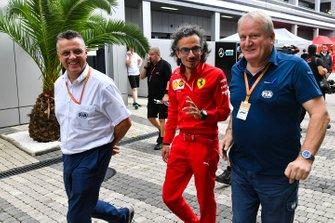 Jo Bauer and Laurent Mekies, Sporting Director, Ferrari