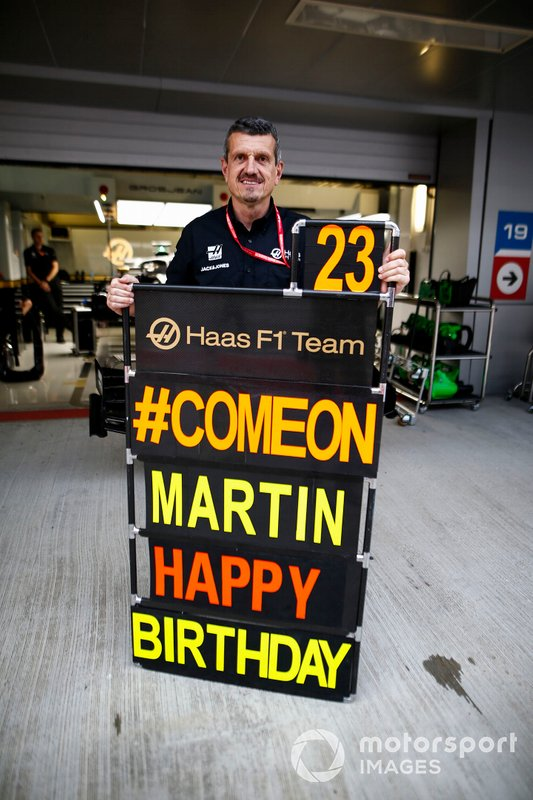 A birthday message to Martin from Guenther Steiner, Team Principal, Haas F1 Team