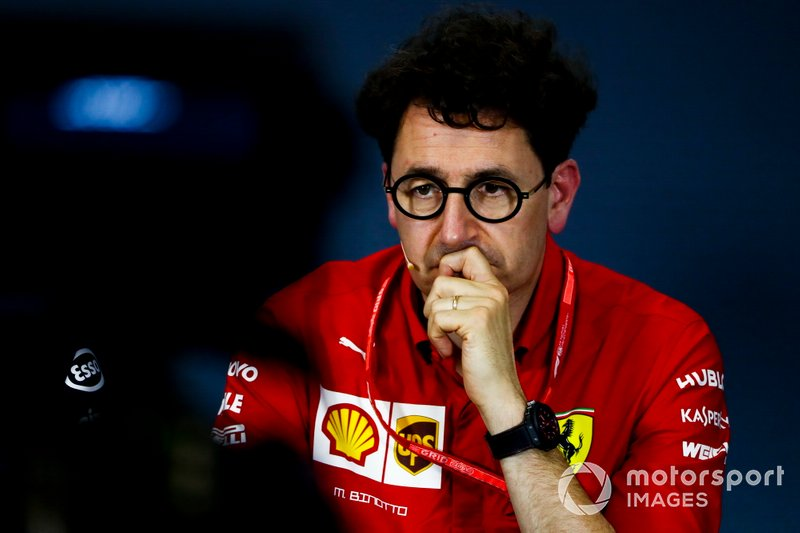 Mattia Binotto, Team Principal Ferrari, alla conferenza stampa