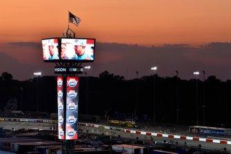 Sonnenuntergang am Richmond Raceway