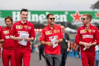 Sebastian Vettel, Ferrariwalks the track
