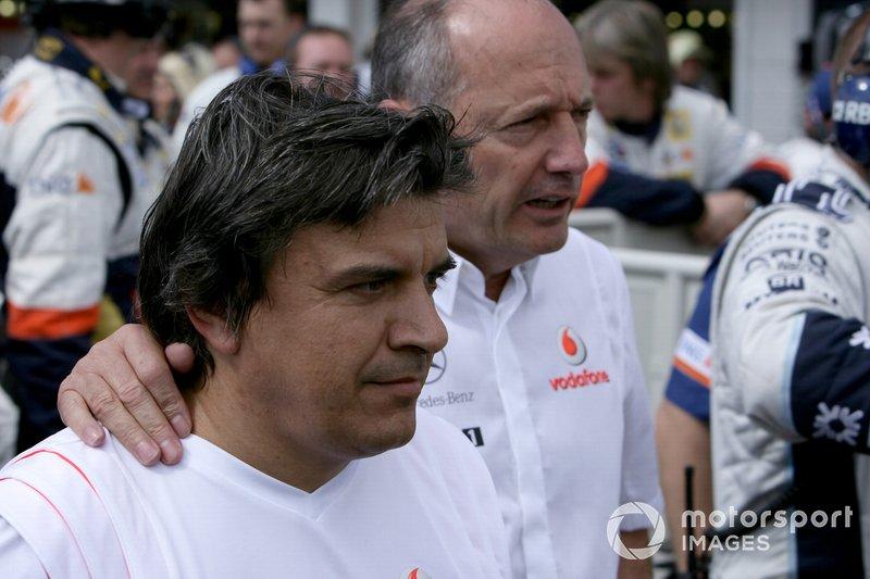 Ron Dennis, director de McLaren y Fernando Alonso, McLaren