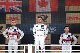 Podium: winnaar Bruno Spengler, BMW Team RMG, tweede Jamie Green, Audi Sport Team Rosberg, derde Mike Rockenfeller, Audi Sport Team Phoenix