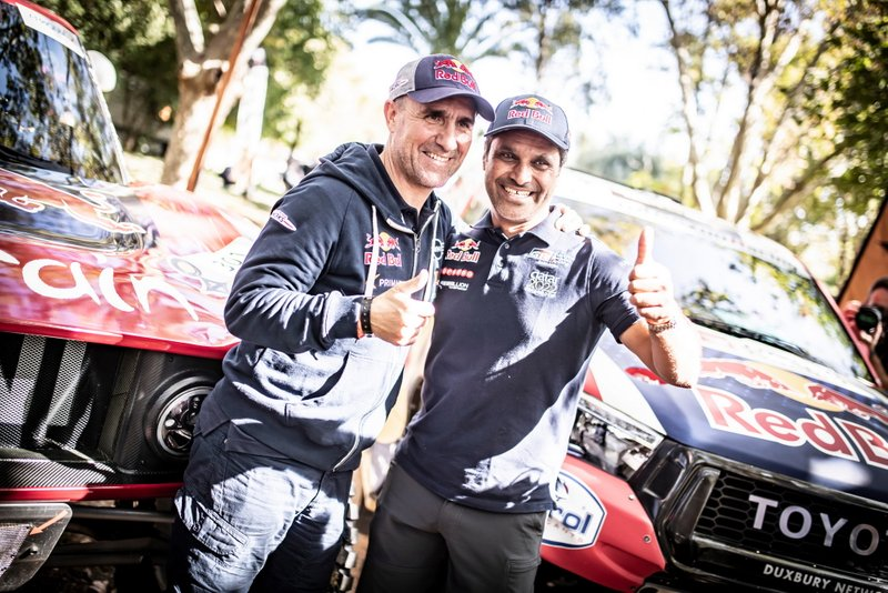 Stephane Peterhansel and Nasser Al-Attiyah