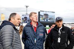Gerhard Berger, ITR voorzitter, Walter Röhrl, Hans-Joachim Stuck