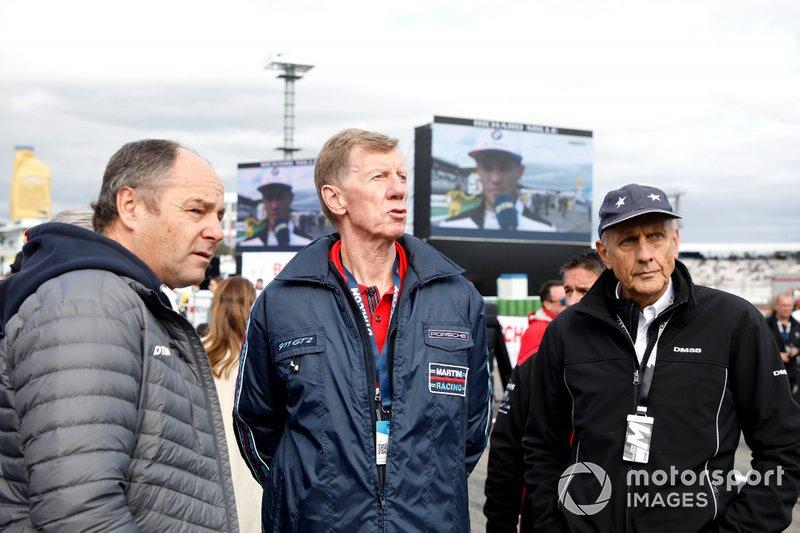 Gerhard Berger, ITR Chairman, Walter Röhrl, Hans-Joachim Stuck