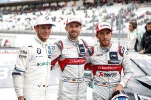 Top 3 after Qualifying, Pole sitter René Rast, Audi Sport Team Rosberg, Marco Wittmann, BMW Team RMG, Mike Rockenfeller, Audi Sport Team Phoenix
