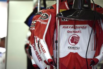 Leathers detail, Honda Team Asia