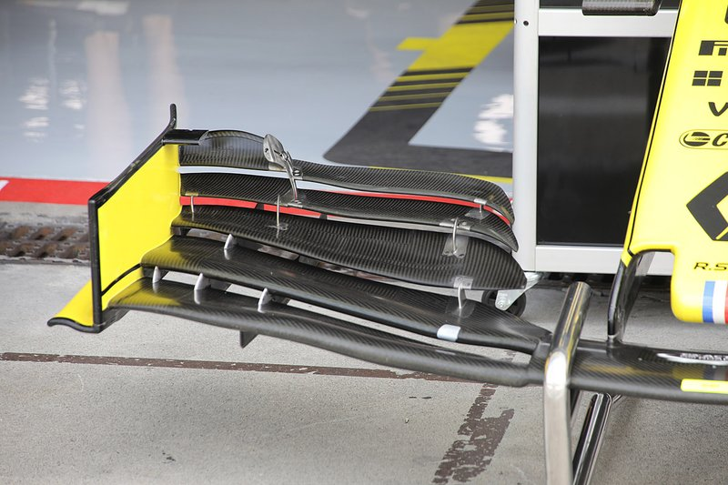 Renault F1 Team R.S.19 front wing detail
