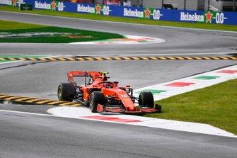Charles Leclerc, Ferrari SF90, cuts the chicane