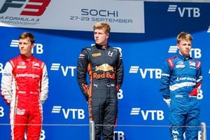 Marcus Armstrong, PREMA Racing, Juri Vips, Hitech Grand Prix and Robert Shwartzman, PREMA Racing