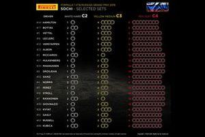 Selección de neumáticos por piloto GP de Rusia