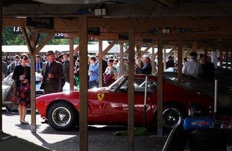 Ferrari 250 GT SWB/C in the paddock