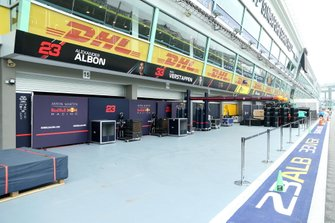 The Red Bull Honda garage