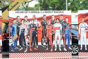 Cartel de los pilotos de la F1 en Singapur
