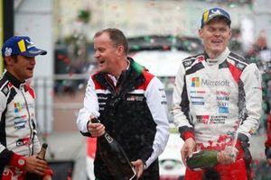 Ott Tänak, Martin Järveoja, Toyota Gazoo Racing WRT Toyota Yaris WRC met Tommi Makinen, Toyota Gazoo Racing