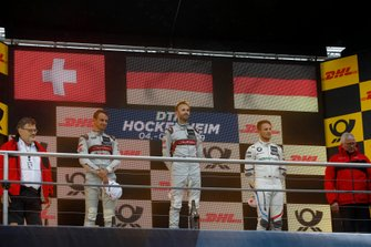 Podium du championnat : Le Champion René Rast, Audi Sport Team Rosberg. le deuxième Nico Müller, Audi Sport Team Abt Sportsline, le troisième Marco Wittmann, BMW Team RMG