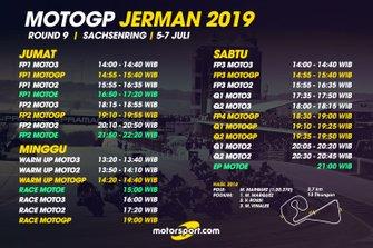 Jadwal MotoGP Jerman 2019