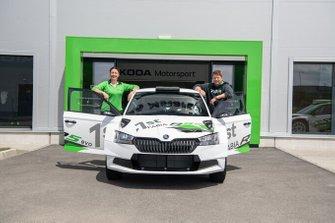 Sarka Kralova, Toni Gardemeister, Skoda Fabia R5 Evo, Skoda Motorsport