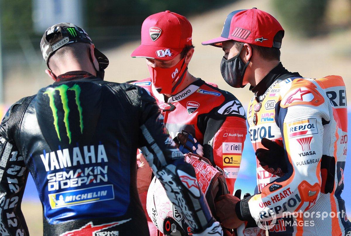 Maverick Vinales, Yamaha Factory Racing, Andrea Dovizioso, Ducati Team, Marc Marquez, Repsol Honda Team