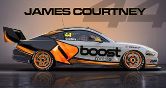 James Courtney's Boost Mobile Mustang livery render