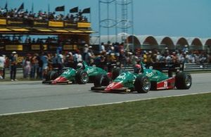 Ricardo Patrese and Eddie Cheever, Alfa Romeo 184T, 4th