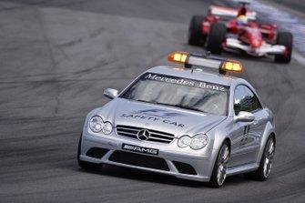 The safety car leads Felipe Massa, Ferrari 248 F1