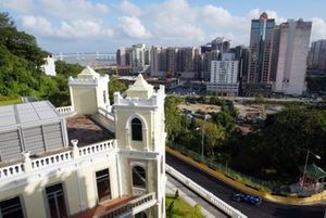 The scenic street circuit of Macau