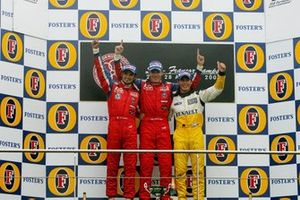 Podium: Vitantonio Liuzzi, Arden International, Robert Doornbos, Arden International, Jose Maria Lopez, CMS Performance